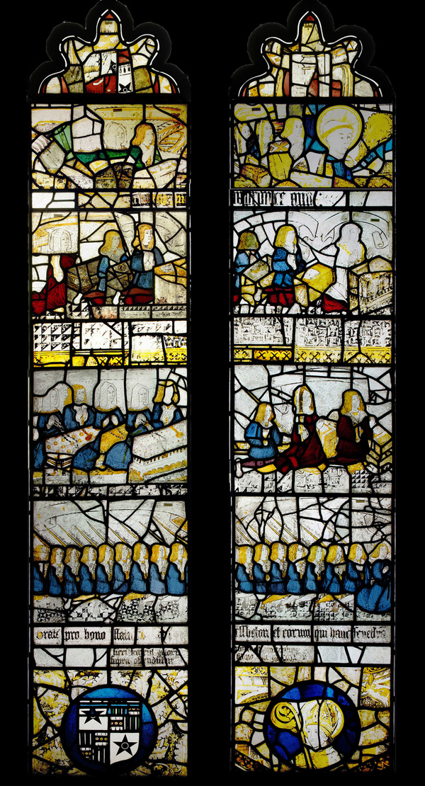 Picture of the flodden stained glass window