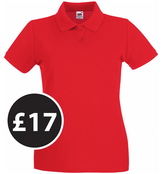Club Clothing - Lady-fit polo shirts £17