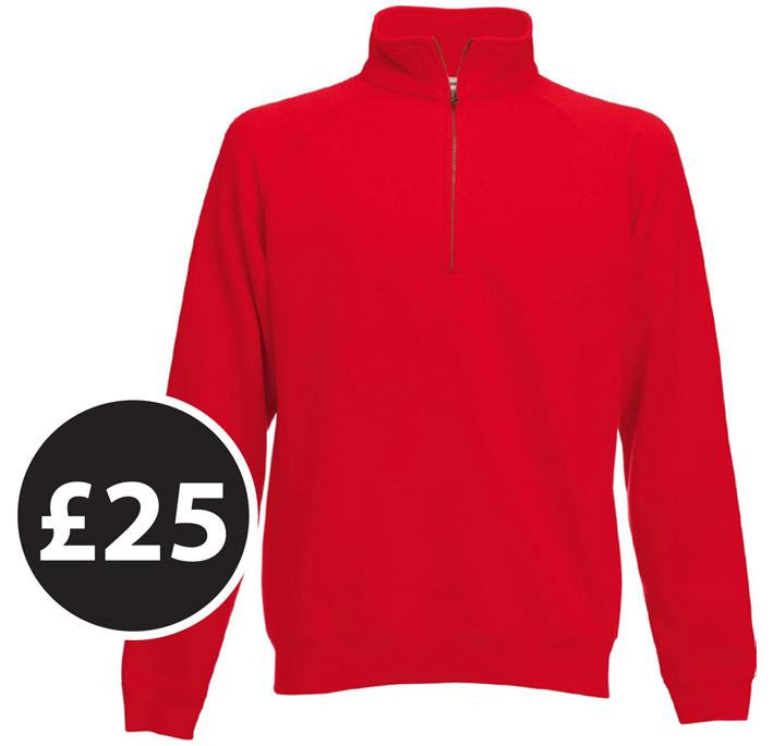 Club Clothing - Zip-neck Sweatshirt £25