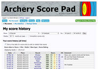 Screenshot - Archery Score Pad