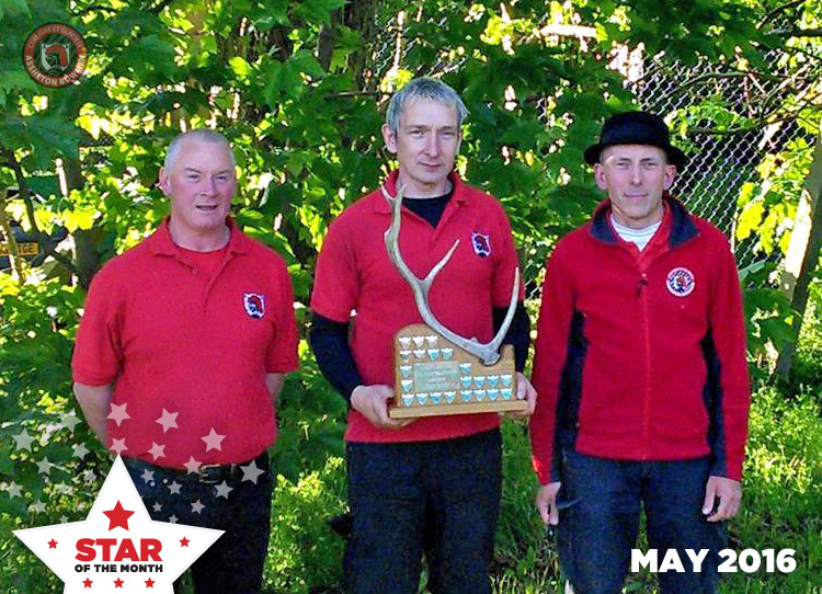 Star of the month - 2016-05 May - Andy Rowe, Dale Message and Hamish Freeman
