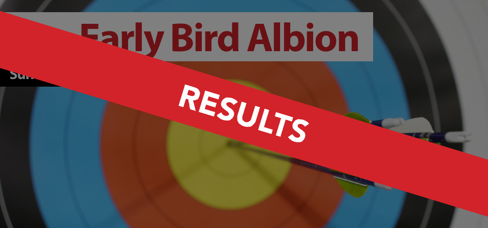 The Early Bird Albion - Sunday 16th April 2017 RESULTS